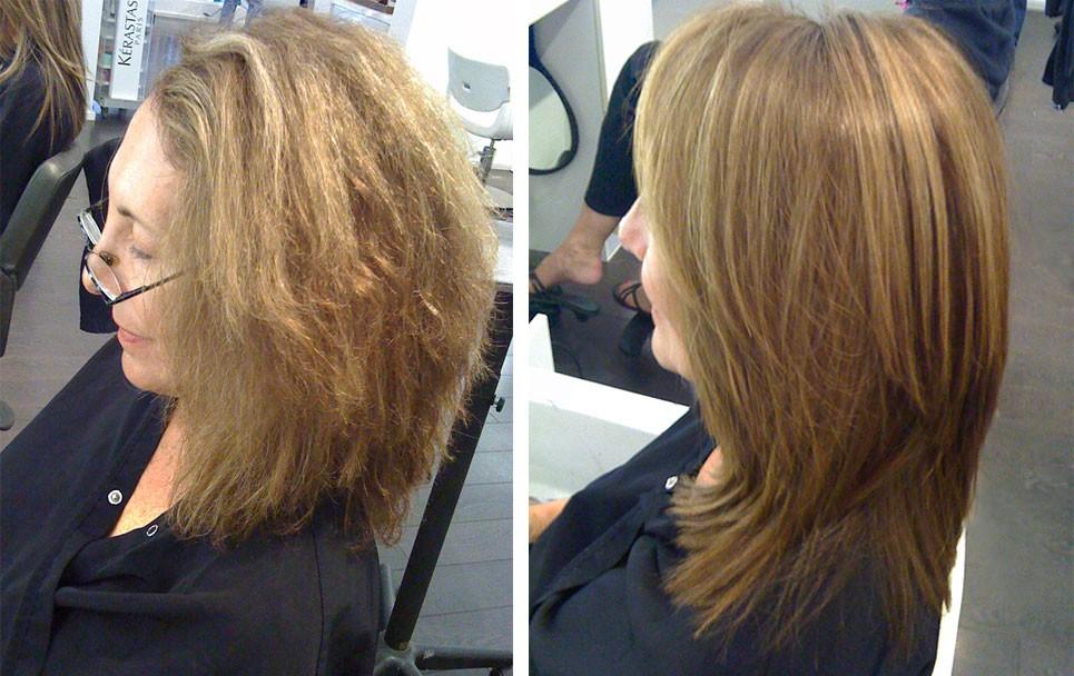 ботокс для волос фото до и после