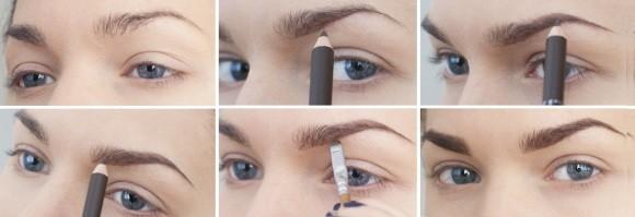 Как накрасить брови карандашом