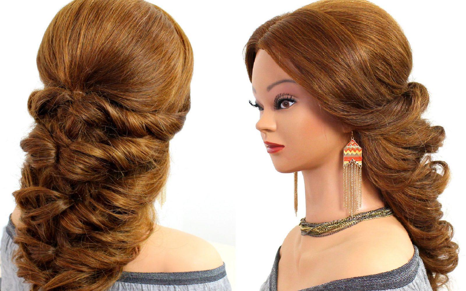 Красивая причёска на длинные волосы