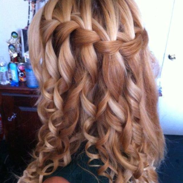 Локоны и французская коса
