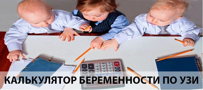 Калькулятор определения сроков беременности по УЗИ