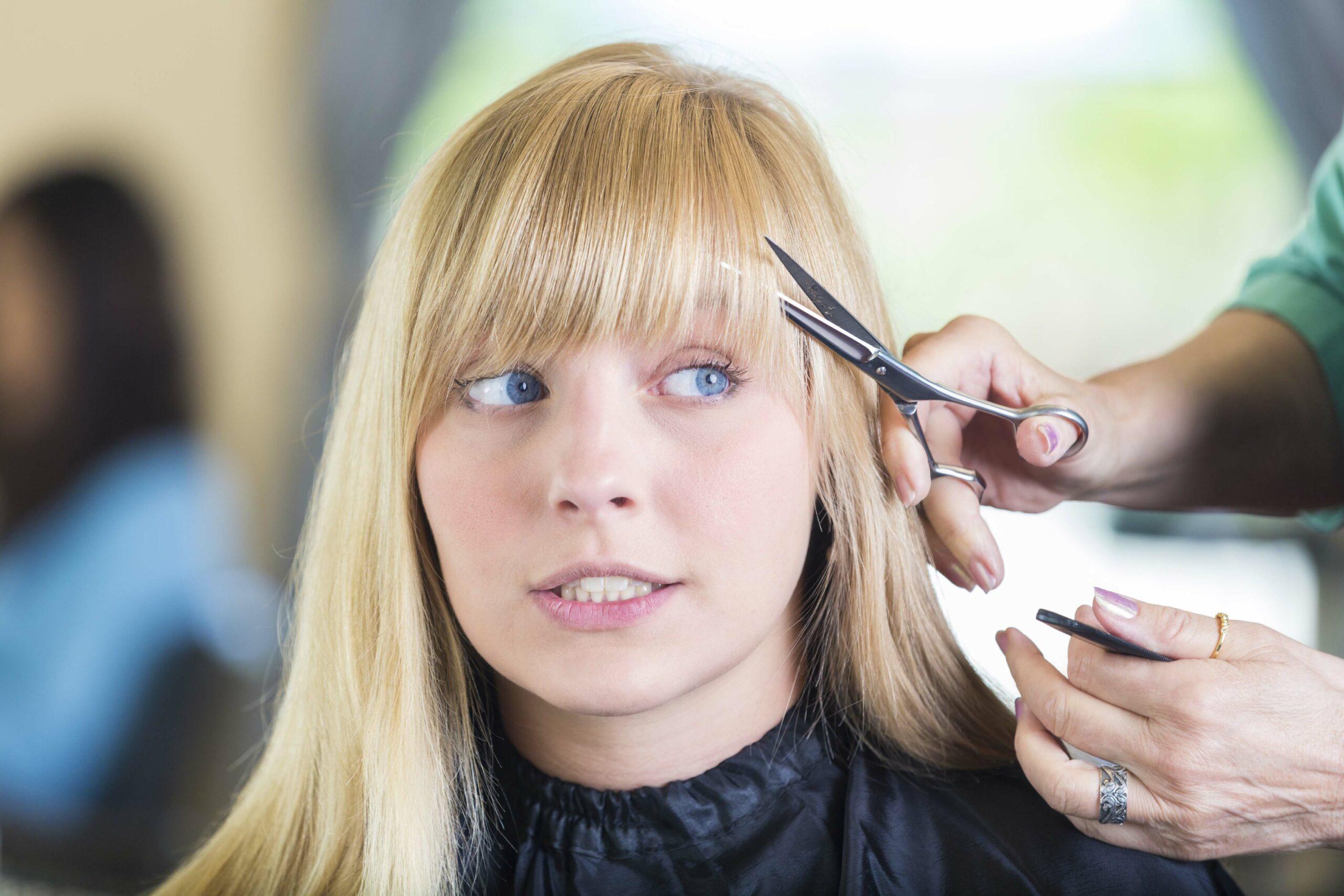 Стрижка на волосы с челкой